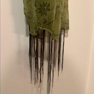 Shear green scarf